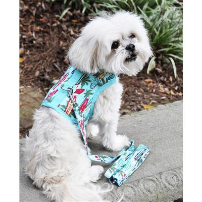 Surfboard and Palms Fabric Harness w/ Leash & D-Ring