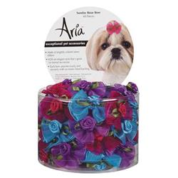 Aria Sunday Rose Bows - Canister of 48