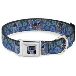 Stitch Expressions/Hibiscus Collage Green-Blue Fade Collars & Leads by Buckle-Down