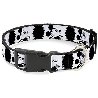 Mickey Standing Pose Film Strip White/Black Collars & Leads by Buckle-Down