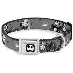 NBC Jack & Sally Cemetery Scene Gray/Black/White Collars & Leads by Buckle-Down