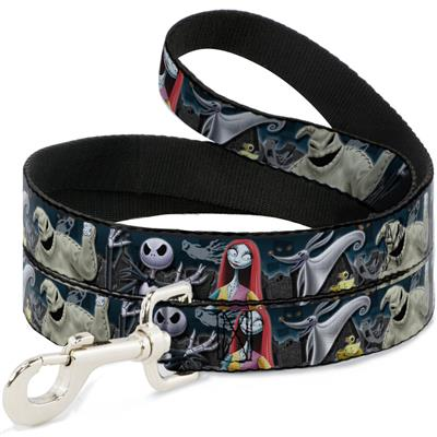 Nightmare Before Christmas 4-Character Group/Cemetery Scene Collars & Leads by Buckle-Down