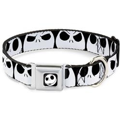 Nightmare Before Christmas 7-Jack Expressions CLOSE-UP Black/White Collars & Leads by Buckle-Down