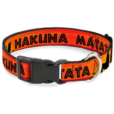 Lion King HAKUNA MATATA Sunset Oranges/Black Collars & Leads by Buckle-Down