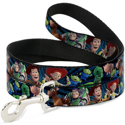 Toy Story Characters Running w/ Denim Rays Collars & Leads by Buckle-Down