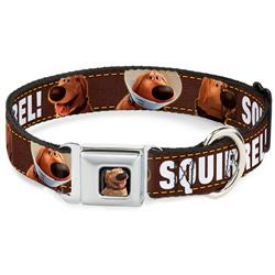 Dug 3-Poses/SQUIRREL! Brown/Yellow/White Collars & Leads by Buckle-Down