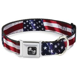 American Flag Vivid CLOSE-UP Collars & Leads by Buckle-Down