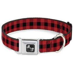 Buffalo Plaid Black/Red Collars & Leads by Buckle-Down