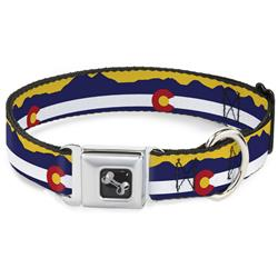 Colorado Flag/Mountain Silhouette Yellow Collars & Leads by Buckle-Down