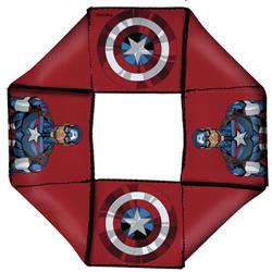 Captain American Pose/Shield Icon Red Pet Flyer Toy by Buckle-Down