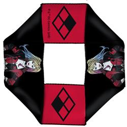 Harley Quinn Pose/Diamond Icon Black/Red Pet Flyer Toy by Buckle-Down
