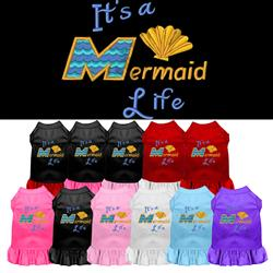 Mermaid Life Embroidered Dog Dress