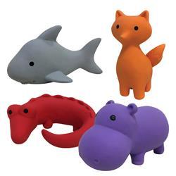 "Zoo Chew Latex Toy - 10 styles - (4.5"" - 6"")"