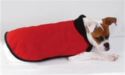 QUILTED FLEECE COAT /  RED / SIZE XX-SMALL