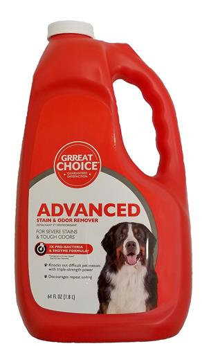 Grreat Choice Advanced Pet Stain and Odor Remover - 64 oz bottle