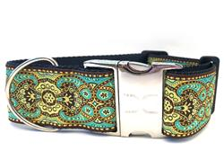 Kashmir Turkish Teal Extra Wide Collar