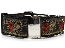 Dakota Rose Extra Wide Dog Collar