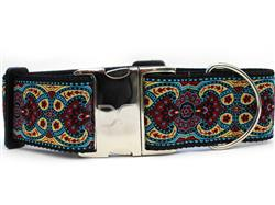 Kashmir Temple Red Extra Wide Dog Collar