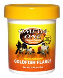 Omega One - Goldfish Flakes .42 oz - USA Made