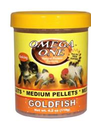 Omega One - Goldfish Pellets 4.2 oz - USA Made