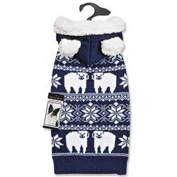 Zack & Zoey® Elements Polar Bear Knitted Hood Sweater