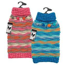 Zack & Zoey® Elements Chunky Pompom Sweater