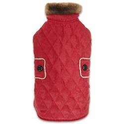 Zack & Zoey® Elements Derby Quilted Coat - Red