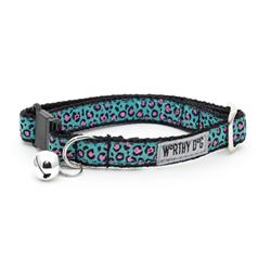 Cat Collar- Cheetah Teal