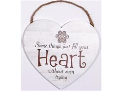 "8.75"" x 8"" Heart Shape Sign - Some Things Just Fill Your Heart Even Without Trying"