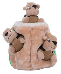 Outward Hound Hide-A-Squirrel Puzzle Plush Squeaking Toys Dogs - Large (While Supplies Last)