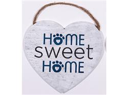 """8.75"""" x 8"""" Heart Shape Sign - Home Sweet Home"""