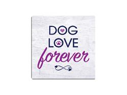 Dog Love Forever -  Single Square Coaster 6 pk