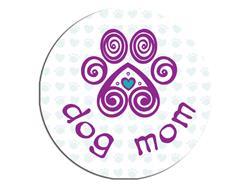 Dog Mom-Round Button Magnet
