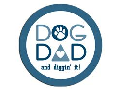 Dog Dad-Round Button Magnet
