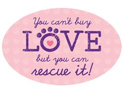 You Can't Buy Love... - Oval Magnet -