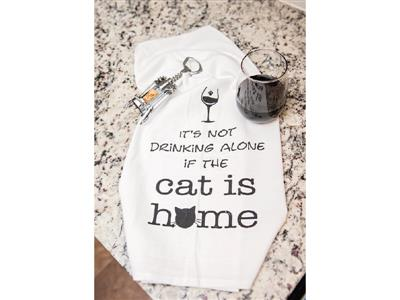 Kitchen Towel - It's Not Drinking Alone...Cat