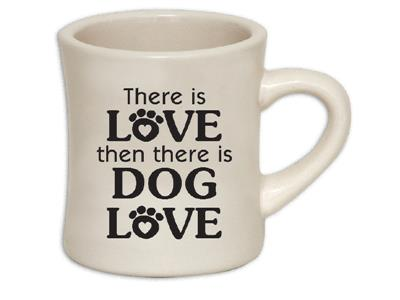 There is Love... 10oz ivory diner mug with black print