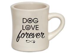 Dog Love Forever... 10oz ivory diner mug with black print