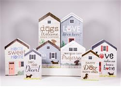 Rustic House Assortment includes 2 each of 8 designs