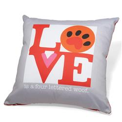 "Love is a Four Lettered Word Accent Pillow (20"" x 20"")"