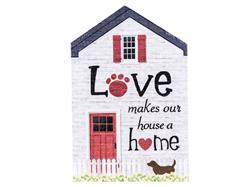 Rustic Large House Signs - Love makes our house a home