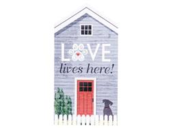 Rustic Extra Large House Signs - Love Lives Here