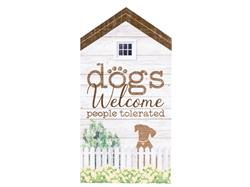 Rustic Extra Large House Signs - Dogs Welcome...