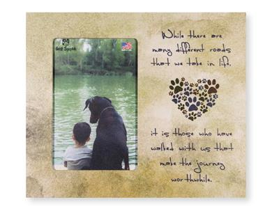 """While there are many different roads... 9.5"""" x 8"""" Vertical Picture Frame"""