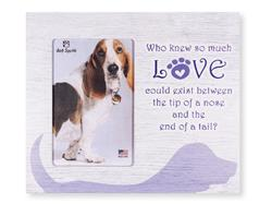 "Who Knew so much love..Dog... 9.5"" x 8"" Vertical Picture Frame"