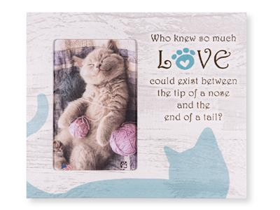 "Who Knew so much love...Cat... 9.5"" x 8"" Vertical Picture Frame"