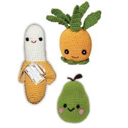 Fruit - Knit Knacks - Organic Cotton Crocheted Toys