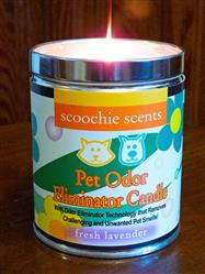 Scoochie Scents Fresh Lavender Pet Odor Eliminator Candle Tin 13 Ounces