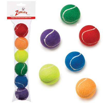 Zanies® Puppy Pride Mini Tennis Balls, 6 pack