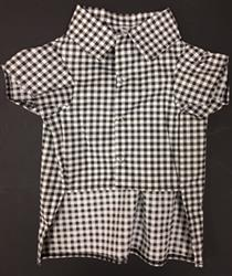 Gingham Pattern Shirt Black